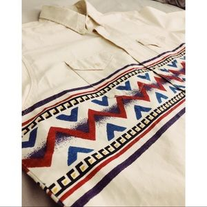 Wrangler Cowboy Native Pattern Shirt Vintage Look